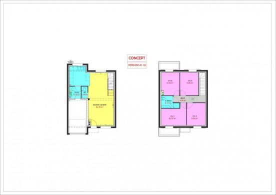Maison à vendre .(90 m²)(STAPLE) avec (Maisons Pierre VILLENEUVE D ASCQ)