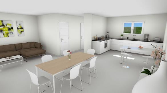 Maison+Terrain à vendre .(101 m²)(CHATEAU GAILLARD) avec (GANOVA - AGENCE DE LAGNIEU)