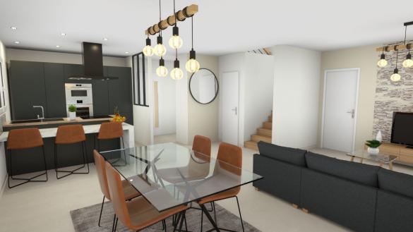 Maison+Terrain à vendre .(111 m²)(MEXIMIEUX) avec (GANOVA - AGENCE DE LAGNIEU)