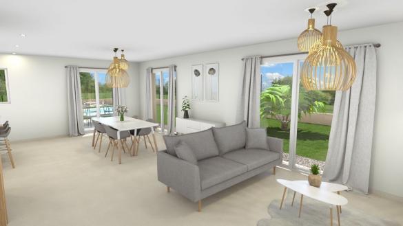 Maison+Terrain à vendre .(129 m²)(DIEMOZ) avec (GANOVA - AGENCE DE LAGNIEU)