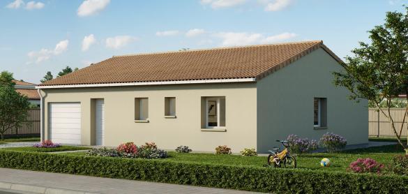 Maison+Terrain à vendre .(75 m²)(LONGEVILLE SUR MER) avec (LES MAISONS CHANTAL B)
