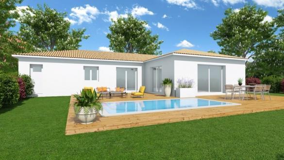 Maison+Terrain à vendre .(90 m²)(LESPIGNAN) avec (Maison Groupe ATHENA)