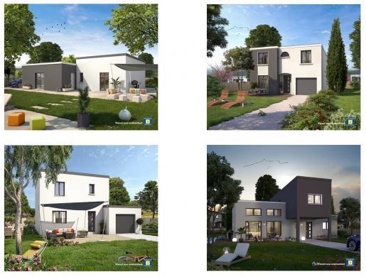 Maison+Terrain à vendre .(105 m²)(GOMETZ LA VILLE) avec (Maisons Sésame)