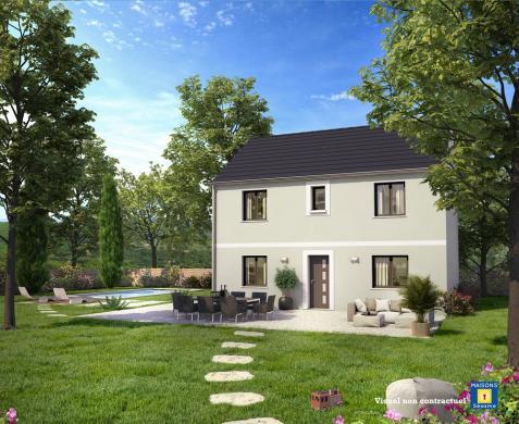 Maison+Terrain à vendre .(100 m²)(BONNELLES) avec (Maisons Sésame)