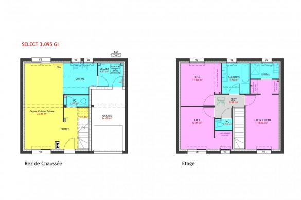 Maison à vendre .(95 m²)(VERMELLES) avec (MAISONS PIERRE ARRAS)