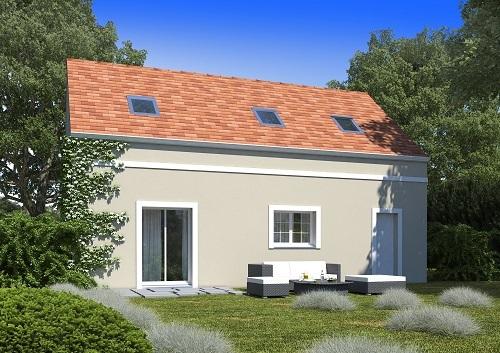 Maison+Terrain à vendre .(98 m²)(MONTS) avec (HABITAT CONCEPT)