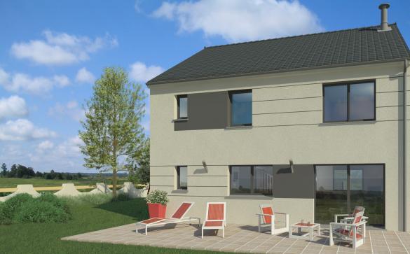 Maison+Terrain à vendre .(130 m²)(SERAINCOURT) avec (MAISON FAMILIALE HERBLAY)