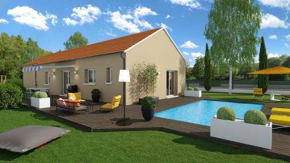 Maison+Terrain à vendre .(112 m²)(SAINT CYR SUR MENTHON) avec (LES DEMEURES REGIONALES)