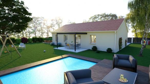 Maison+Terrain à vendre .(90 m²)(MACON) avec (LES DEMEURES REGIONALES)