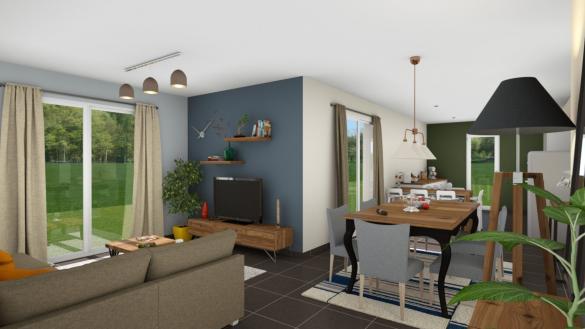 Maison+Terrain à vendre .(92 m²)(TOURNUS) avec (LES DEMEURES REGIONALES)