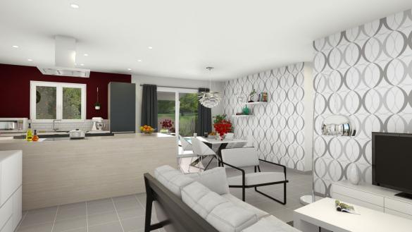 Maison+Terrain à vendre .(90 m²)(RIOM) avec (LES DEMEURES REGIONALES)