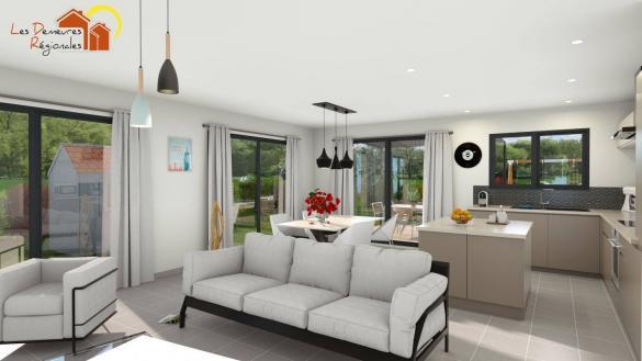 Maison+Terrain à vendre .(105 m²)(CHANONAT) avec (LES DEMEURES REGIONALES)
