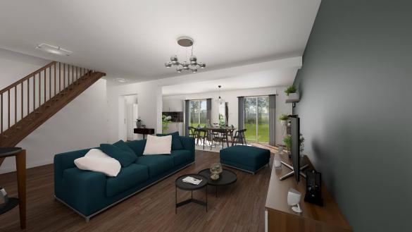 Maison+Terrain à vendre .(124 m²)(GUERARD) avec (LES MAISONS.COM)
