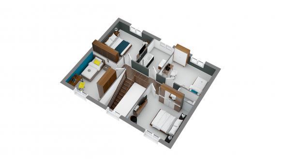 Maison+Terrain à vendre .(114 m²)(RUBELLES) avec (LES MAISONS.COM)