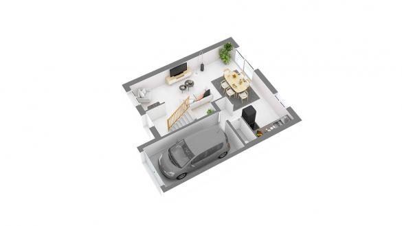 Maison+Terrain à vendre .(86 m²)(GUIGNES) avec (LES MAISONS.COM)