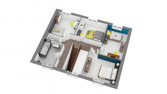 Maison+Terrain à vendre .(124 m²)(VILLABE) avec (LES MAISONS.COM)