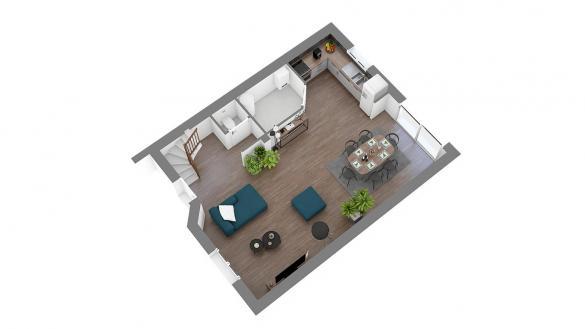 Maison+Terrain à vendre .(87 m²)(VITRY SUR SEINE) avec (LES MAISONS.COM)