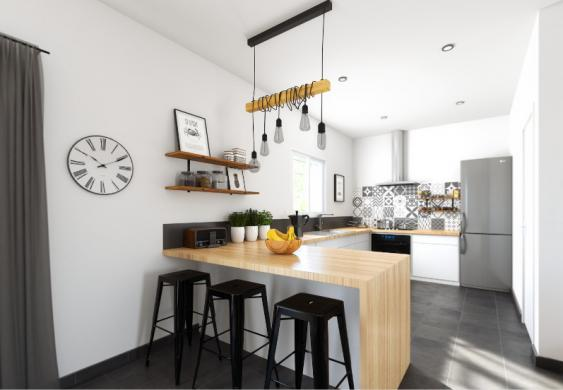 Maison+Terrain à vendre .(SAINT SIMON DE BORDES) avec (ALPHA CONSTRUCTION JONZAC)