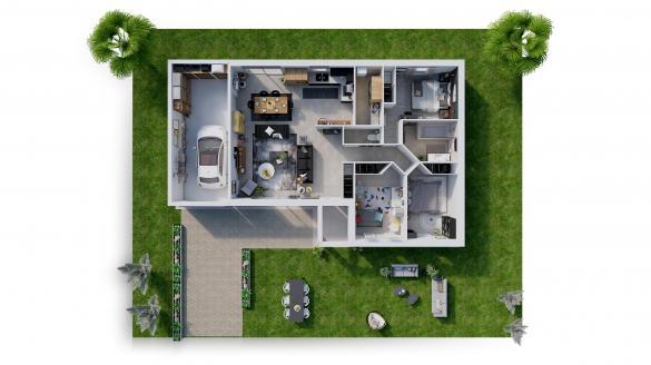 Maison à vendre .(90 m²)(SAINT GERMAIN DU PUY) avec (Maisons Hexagone BOURGES)