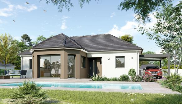 Maison à vendre .(95 m²)(SAINT MARTIN D'AUXIGNY) avec (Maisons Hexagone BOURGES)