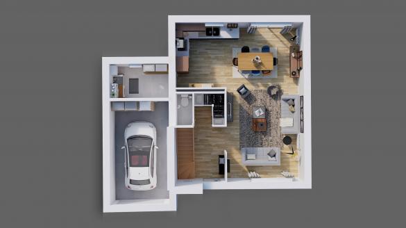 Maison à vendre .(95 m²)(BOULAY LES BARRES) avec (Maisons Hexagone ORLEANS)