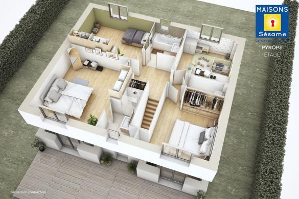 Maison+Terrain à vendre .(130 m²)(LONGPERRIER) avec (Maisons SESAME)