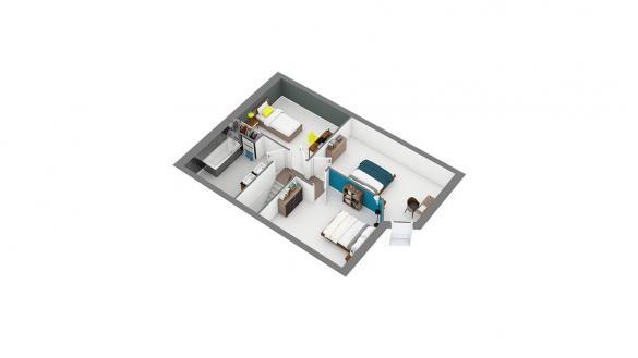 Maison+Terrain à vendre .(89 m²)(GRANVILLE) avec (HABITAT CONCEPT)