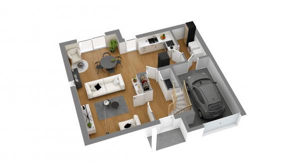 Maison+Terrain à vendre .(113 m²)(COUTANCES) avec (HABITAT CONCEPT)