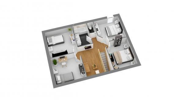 Maison+Terrain à vendre .(113 m²)(GAVRAY) avec (HABITAT CONCEPT)
