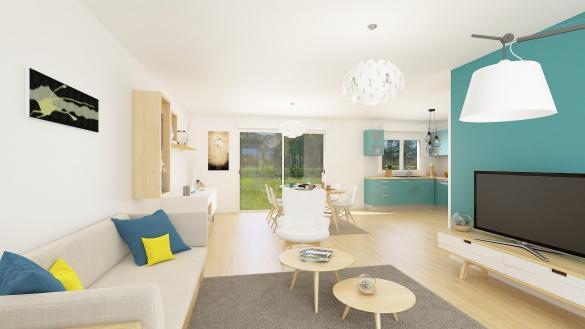 Maison+Terrain à vendre .(95 m²)(ESTEVILLE) avec (HABITAT CONCEPT)