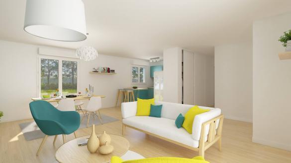 Maison+Terrain à vendre .(92 m²)(ESTEVILLE) avec (HABITAT CONCEPT)