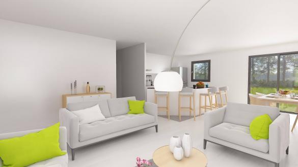 Maison+Terrain à vendre .(84 m²)(FONTAINE LE BOURG) avec (HABITAT CONCEPT)
