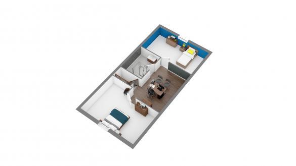 Maison+Terrain à vendre .(102 m²)(ESTEVILLE) avec (HABITAT CONCEPT)