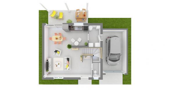 Maison+Terrain à vendre .(85 m²)(LOISIN) avec (MAISONS FRANCE CONFORT)